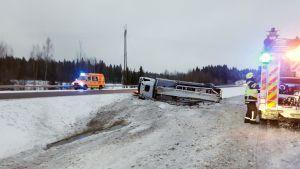 Onnettomuuspaikka Mäntsälässä.