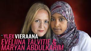 Eveliina Talvitie ja Maryan Abdulkarim vierailivat YleX Etusivussa.