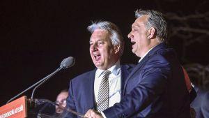 kaksi miestä laulaa mikrofoniin