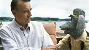 Ransu keskustelee Suomen presidentti Mauno Koiviston kanssa.