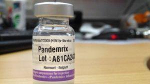 Pandemrix-rokotepullo.