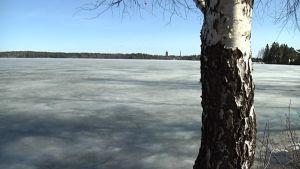 Auringonsäteily puikkoonnuttaa jään.