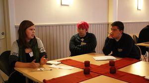 Kuvassa (vas) Heidi Jyrkkä , Tytti Tikkakoski ja slovakialainen Michal Slachtka.