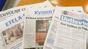 Sanoma Lehtimedian sanomalehtiä.