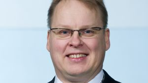 Suomen salibandymaajoukkueen joukkueenjohtaja Kimmo Nurminen.