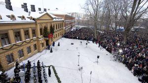 Joulurauhan julistus Turussa 24. joulukuuta 2010.