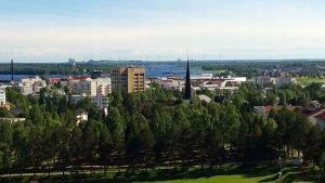 Tornion kaupunki vesitornista kuvattuna