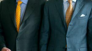 Belgian kuningas Albert II (vas.) ja prinssi Philippe.
