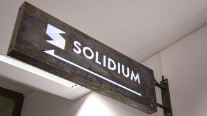 Solidiumin kyltti.