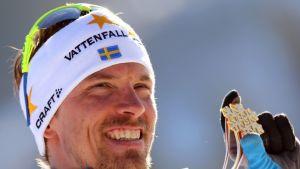 Johan Olsson Val di Fiemmen MM-kisoissa.