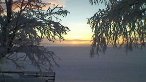 Pasmajärvi auringonlaskun aikaan
