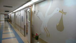 Oulaskankaan sairaalaan synnytysosasto Oulaisissa.
