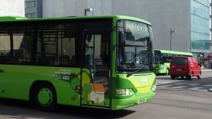 Jyväskylän liikenteen linja-auto.