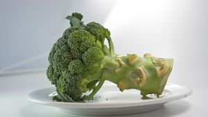 Broccoli on a plate.