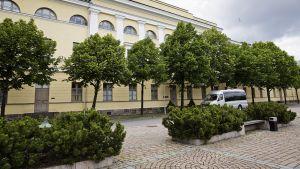 Suomen ulkoasianministeriön rakennus Helsingin Katajanokalla 2. heinäkuuta 2014.
