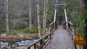 Vekaruskosken ylittävä silta Tuupovaarassa.
