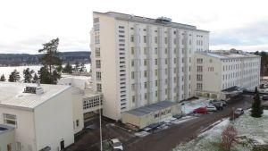 Savonlinnan keskussairaala joulukuussa 2014