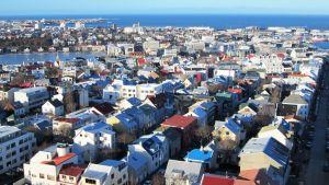 Islannin pääkaupunki Reykjavik.