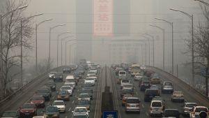 Ilman saastepitoisuudet Pekingissä ovat pahinta luokkaa Kiinassa.
