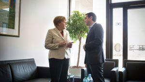 Angela Merkel ja Alexis Tsipras.