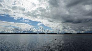Maisema Kiltuanjärvelle Sonkajärvellä