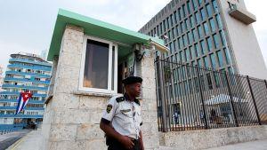 Yhdysvaltojen suurlähetystö Havannassa 11. elokuuta.