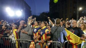Katalonia itsenäisyyden kannattajia.