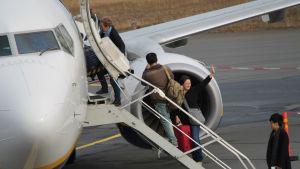Ryanairin viimeinen lento Lappeenrannasta.