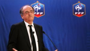 Ranskan jalkapalloliiton johtaja Noel De Graet.