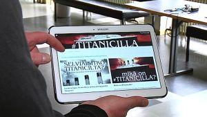 Lapuan lukiolaiset ovat mukana #Titanicilla-projektissa, jossa  seurataan Titanicin kohtalokasta matkaa.