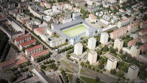 Ilmakuva Tammelan stadionista