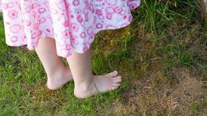 Nuoren tytön jalat.