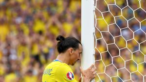 Ruotsin Zlatan Ibrahimovic UEFA EURO 2016 Jalkapallon EM