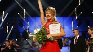 Tangokuningatar 2016 -kilpailun voittanut Erika Vikman.