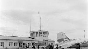 Kajaanin lentokenttä vuodelta 1960.