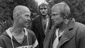 Ohjaaja Jouko Turkka ja näyttelijä Kai Lehtinen (Juhani,oik).