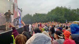 JVG ja Robin esiintyivät samalla lavalla Simerockissa 13. elokuuta 2016.