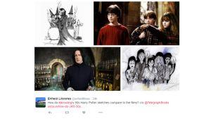J.K. Rowlingin luonnokset ovat herättäneet ihastusta ja levinneet laajalti somessa viimeisen vuorokauden aikana.