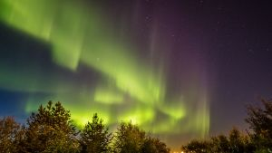 Revontulia Rovaniemellä syksyllä 2016