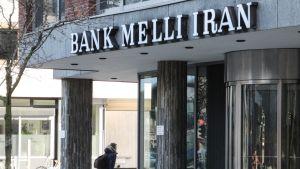 Melli Iran -pankin sisäänkäynti Hampurissa, Saksassa.