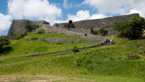 Katsurenin linnan rauniot Okinawan alueella Japanissa.