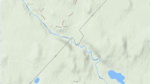 Keskisaaren kylä kartalla
