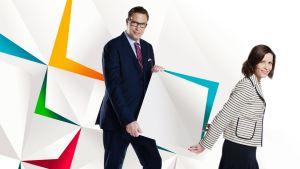 Jan Andersson ja Johanna Vesikallio vetävät kuntavaalien ensimmäisen tv-tentin.