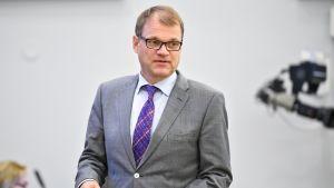 Juha Sipilä eduskunnan täysistunnossa 5. lokakuuta.