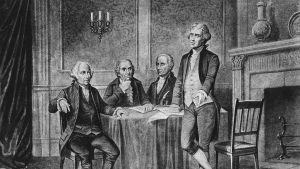 John Adams, Robert Morris, Alexander Hamilton, Thomas Jefferson