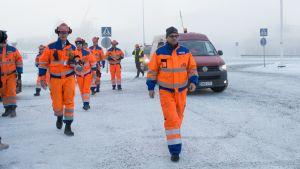 Pääministeri Juha Sipilä vieraili Terrafamen kaivoksella Sotkamossa 14.11.2016