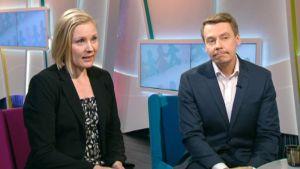 Aamu-tv:ssä lapsiasiavaltuutettu Tuomas Kurttila sekä ylitarkastaja Terhi Tuukkanen lapsiasiavaltuutetun toimistosta.
