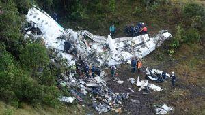 Kolumbia lentokone-onnettomuus.
