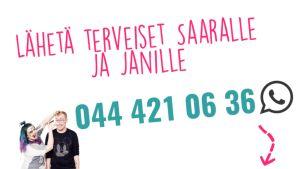 YleX Jatkot vastaanottaa terveisiä Whatsappin kautta.