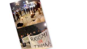 Suomi ensin -mielenilmaus keräsi vastapainoksi antirasistisia kannanottoja.